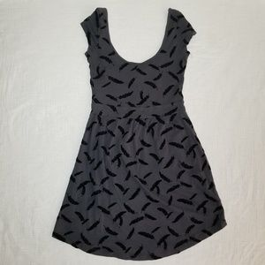 I LOVE H81 Feather patterned dress